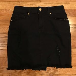 Good American skirt - raw edge mini